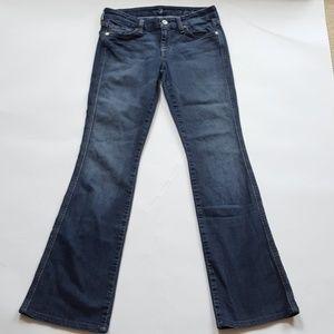 7FAM A Pocket Flare Jeans Size 27 Glitter Pockets